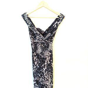 GUESS black leopard print dress